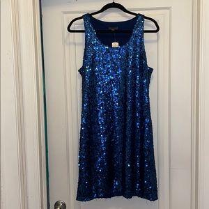 Vince camuto royal blue sequin party dress